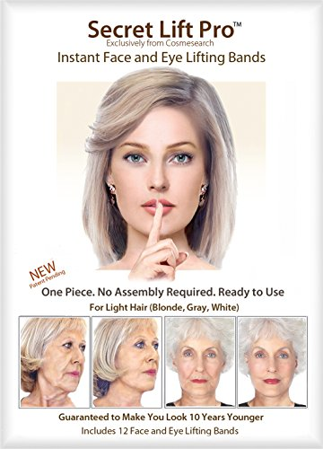Secret Lift Pro - Face and Eye Lift (Light Hair) (Jane Fonda Wigs)