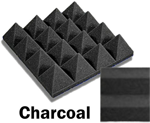 48 Pack of (12 x 12 x 3)Inch Acoustical Pyramid Foam Panel for Soundproofing Studio & Home Theater (Charcoal) by F-Factory(Acoustic Foam)