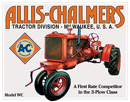 Desperate Enterprises Allis Chalmers Tractor - Model U Tin Sign, 16