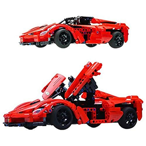 RONSHIN Remote Control Electric Sports Car Toy DIY Assemble Building Blocks -  SZXSQ-0828PTO_05FFJEGY