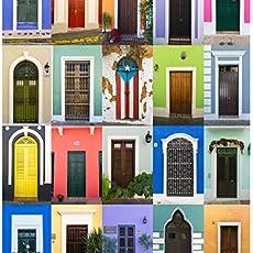 c7cf51f37aa18 Puerto Rico Wall Art, Doors of Old San Juan, Puerto Rico Print, Bright,  Colorful.