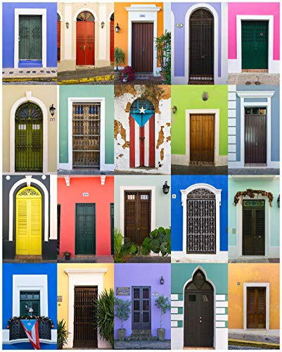 Puerto Rico Wall Art, Doors of Old San Juan, Puerto Rico Print, Bright, Colorful Doors - Travel Photography, Print, Wall Art