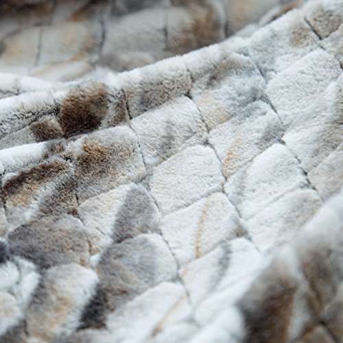 Faux Fur Sherpa Throw Blanket 50x60 Rustic Bark Color Home Decor Bedding Blanket