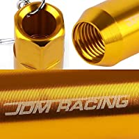 Anodized Aluminum JDM Racing Acorn Style Wheel Lug Nut Lock Charm Key Chain Ring