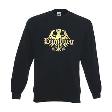 SFU08-12c Sweatshirt Hamburg meine Heimat meine Liebe Pullover S 6XL