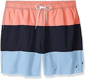 Nautica men 39 s big and tall quick dry color block swim for Big and tall quick dry shirts