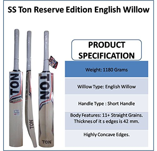 SS Ton Reserve Edition English Willow Cricket Bat