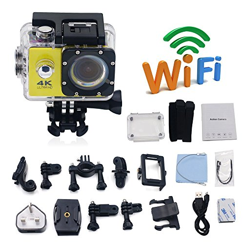 Bay Valley PartsUltra 4K WiFi Waterproof Action Camera F60 Sport Extreme Mini Helmet Cam HD 1080P Video Camcorder