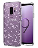 Unov Case for Galaxy S9 Plus Clear with Design Soft TPU Shock Absorption Slim Embossed Pattern Protective Back Cover (Death Hallows)
