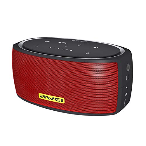 Bluetooth Speaker with Hi-Res 30W Audio, Extended Bass and Treble, Wireless HiFi Portable Speaker with App, Customizable EQ, 12-Hour Playtime,NFC, and USB-C (Free, Red)