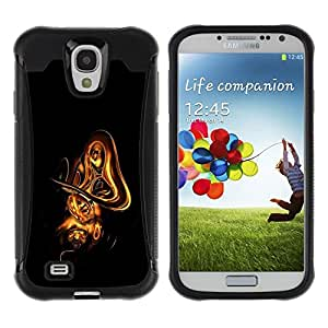 Suave TPU GEL Carcasa Funda Silicona Blando Estuche Caso de protección (para) Samsung Galaxy S4 IV I9500 / CECELL Phone case / / Abstract Gold Shape /