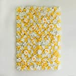 BalsaCircle-4-pcs-White-Champagne-Assorted-Silk-Flowers-Wall-Backdrop-Panels-Wedding-Party-Vertical-Garden-Wall-Hedge-Decorations-Supplies