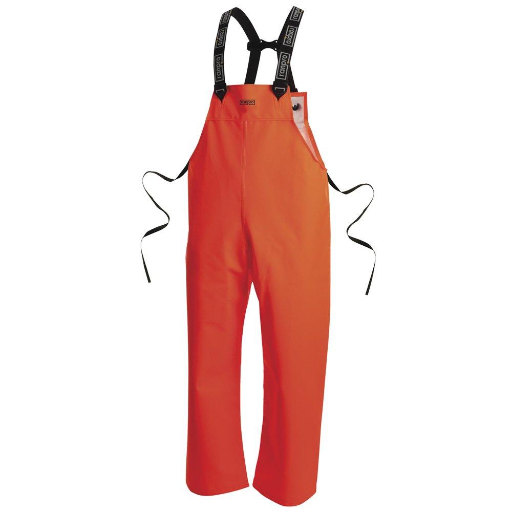 Pioneer V3246850-XL Pioneer FL Snapper Rain Bib Pant, Abrasion and Tear Resistant, Orange, XL Pioneer Ranpro