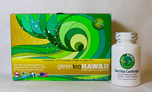 North Shore Diet: Green Tea Hawaii 60ct. (Variety) Powdered Antioxidant Drink with Noni and one bottle of Garcinia Cambogia. by greenteaHawaii
