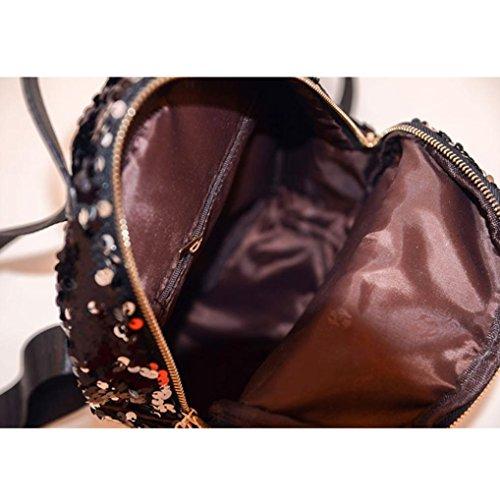 Frauen-Art- und Weiseschulart-Sequins-Spielraum-Schultaschen-Schule-Beutel, Rucksack-Beutel Pink