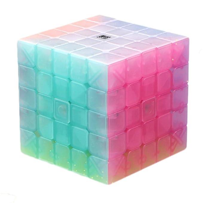 Ocamo Rompecabezas Cubo de gelatina, Juguete Educativo Cubo, 2x2 3x3 4x4 5x5 Jelly Color 5 * 5