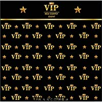 5x7ft royal crown black hollywood vip banner backdrop Flannelette cloth Computer printed Birthday Adults children party photography studio background dd-CST668