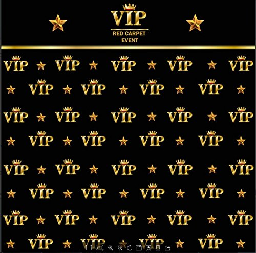 5x7ft royal crown black hollywood vip banner backdrop Computer printed Birthday Adults children party wedding background ly-2018317]()