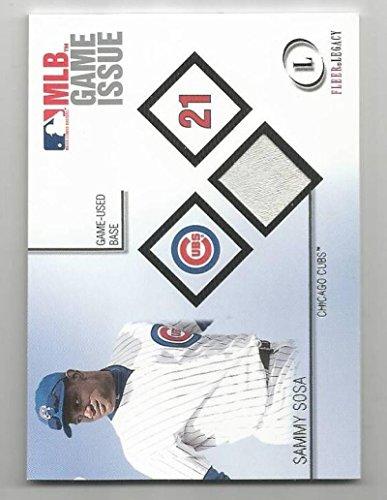 Baseball MLB 2001 Fleer Legacy Game Used Base #SS Sammy Sosa #SS NM MEM from Legacy Game Used Base