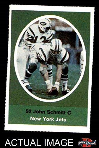 John Schmitt New York Jets (1972 Sunoco Stamps John Schmitt New York Jets (Football Card) Dean's Cards 6 - EX/MT Jets)