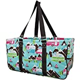 Happy Camper Print NGIL Utility Tote Shopping Bag Review