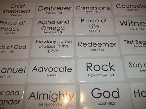 Amazon.com: 106 Laminated Many Names of Jesus in the Bible ...