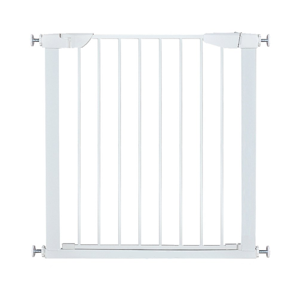 ALLAIBB Walk Thru Metal Baby Gate Pressure Mount Kit Auto Close Child Safety Gate Size 68.11''-70.87'' (White) by ALLAIBB (Image #1)