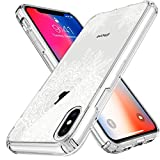 iPhone X Case LK White Henna Floral Lace Air Hybrid