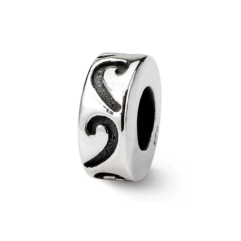 FB Jewels Solid 925 Sterling Silver Reflections Stopper Spacer Bead