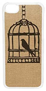 Birdcage on Burlap Case for of iPhone shop 5c (Clear Case) mold the