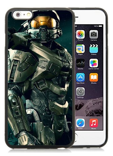 iPhone 6 Plus TPU Case,Master Chief Halo Black iPhone 6S Plus 5.5 Inches Cover Case