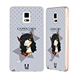 Head Case Designs Capricorn Kawaii Zodiac Signs Gold Aluminum Bumper Slider Case for Samsung Galaxy Note 4
