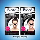 Bioré Charcoal, Deep Cleansing Pore Strips, 6 Nose Strips for Blackhead Removal on Oily Skin, with Instant Blackhead Removal and Pore Unclogging