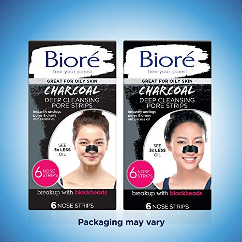 Bioré Charcoal, Deep Cleansing Pore Strips, 6 Nose Strips for Blackhead Removal on Oily Skin, with Instant Blackhead… 4