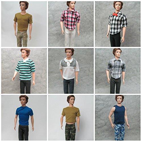 HelloJoy Lot 6 Fashion Casual Wear Clothes/outfit for Barbie's Boy Friend Ken Doll -