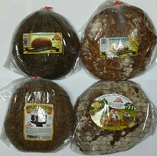 NEW European Bread Sampler #4 {4 Kinds of Gourmet Rye Breads (Ukrainian Rye, Old Kiev Rye, Country Style Ukrainian Rye, & Narochansky Rye)}