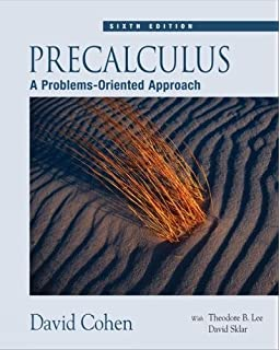 Precalculus david cohen theodore b lee david sklar precalculus a problems oriented approach with cd rom and ilrn tutorial fandeluxe Images