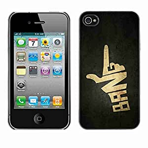 Planetar® ( Bang Hand Sign Gun ) Fundas Cover Cubre Hard Case Cover Apple iPhone 4 / 4S