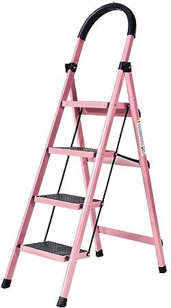 M-Y-S Escalera de 4 escalones, metal plegable for el hogar Taburete de 4 escalones Escalera de tijera de pedal ancho antideslizante Capacidad de 330 lb, for uso doméstico Escaleras de uso: Amazon.es: