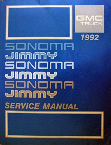 Gmc Sonoma Ebay - 1992 GMC Sonoma and Jimmy Service Manual