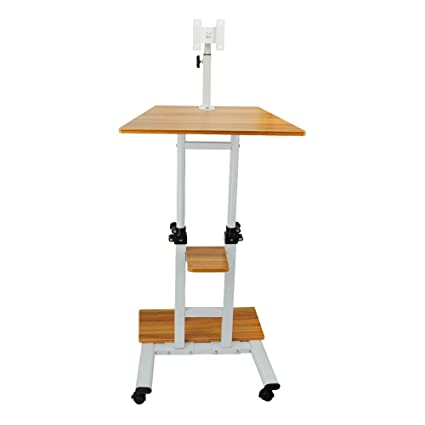 SortWise ® Mobile Height Adjustable Sit To Stand Office Desk Riser Standing  Table Workstation, With