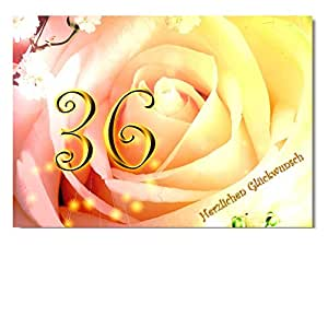 DigitalOase - Tarjeta de felicitación 36. Cumpleaños Tarjeta de ...