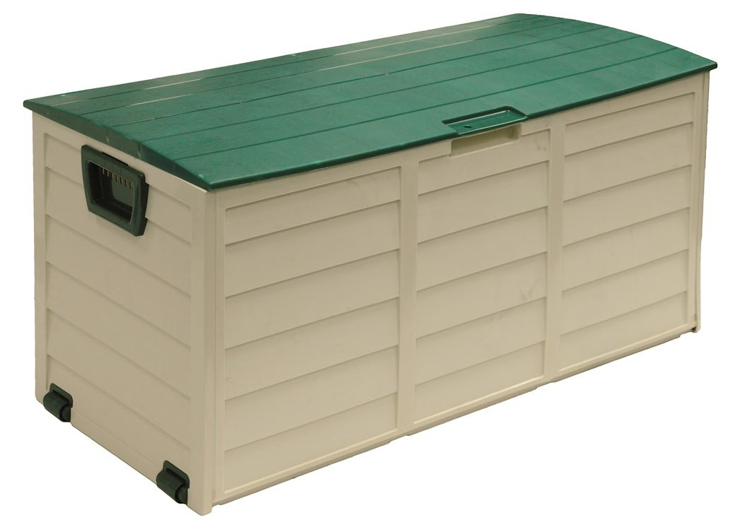 Starplast Deck Box, 60 gallon, Beige/Green 34811