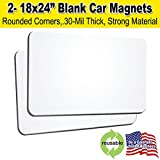 2 Pack 18''x24'' Blank Car Magnets