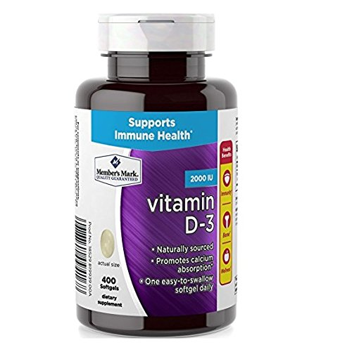 Member's Mark Vitamin D-3 2000 IU, 400 Softgels Dietary Supplement