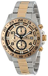 Invicta Men's 13867 Specialty Chronograph Gold Dial Two Tone Stainless Steel Watch