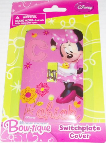 Disney Minnie Mouse Bow-tique Switchplate Cover - Baby Nursery Kids Bedroom Light Switch Wall Decor by Disney