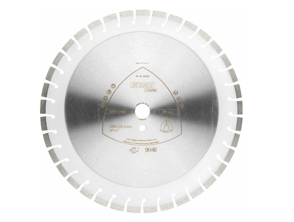 Klingspor Disque à tronçonner diamant dt600u Supra pour scie de table, enregistrement 30mm, diamètre 400mm, 325199 enregistrement 30mm diamètre 400mm