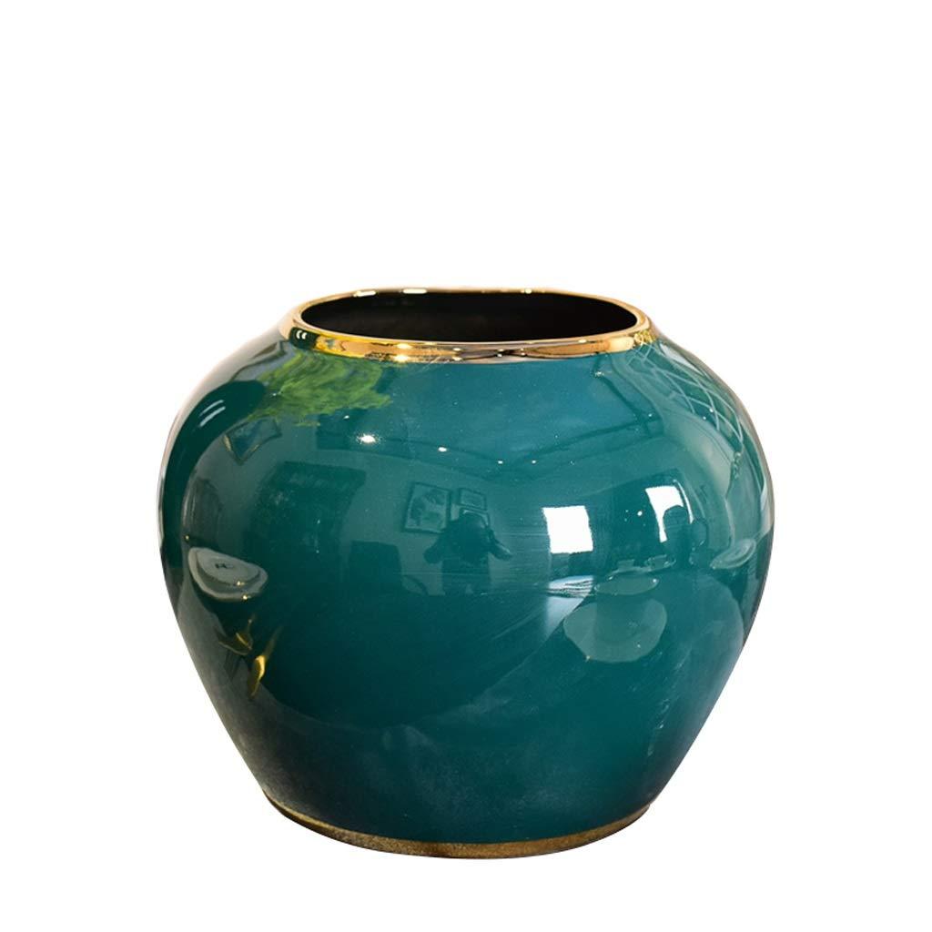 ジェーンライト高級水耕栽培セラミックス花瓶家の装飾装飾造花フラワーインサータ anQna (形状 けいじょう : 1) B07SCYQ3T7  1