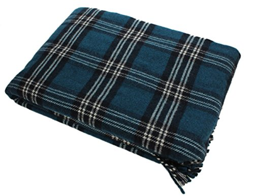 Plaid Blanket 100% Wool St. Andrews Tartan 52